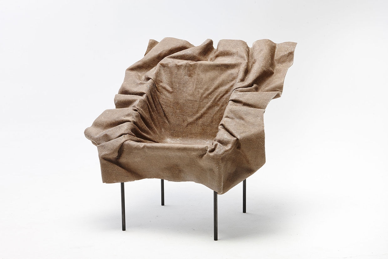 The poetic furniture chair looks like fabric frozen in Recliners that look like chairs