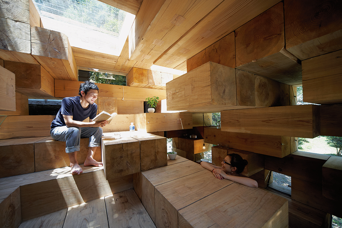 Sou Fujimoto S Final Wooden House Is Simultaneously