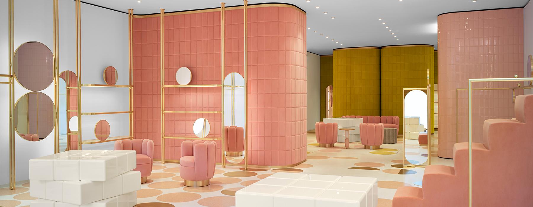 India Mahdavi S Interior Design Is Pastel Velveteen