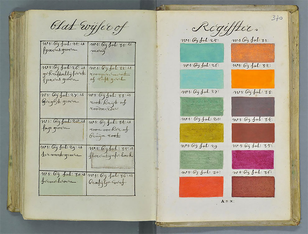 this hand painted manuscript was 271 years ahead of the pantone color book - Pantone Color Books