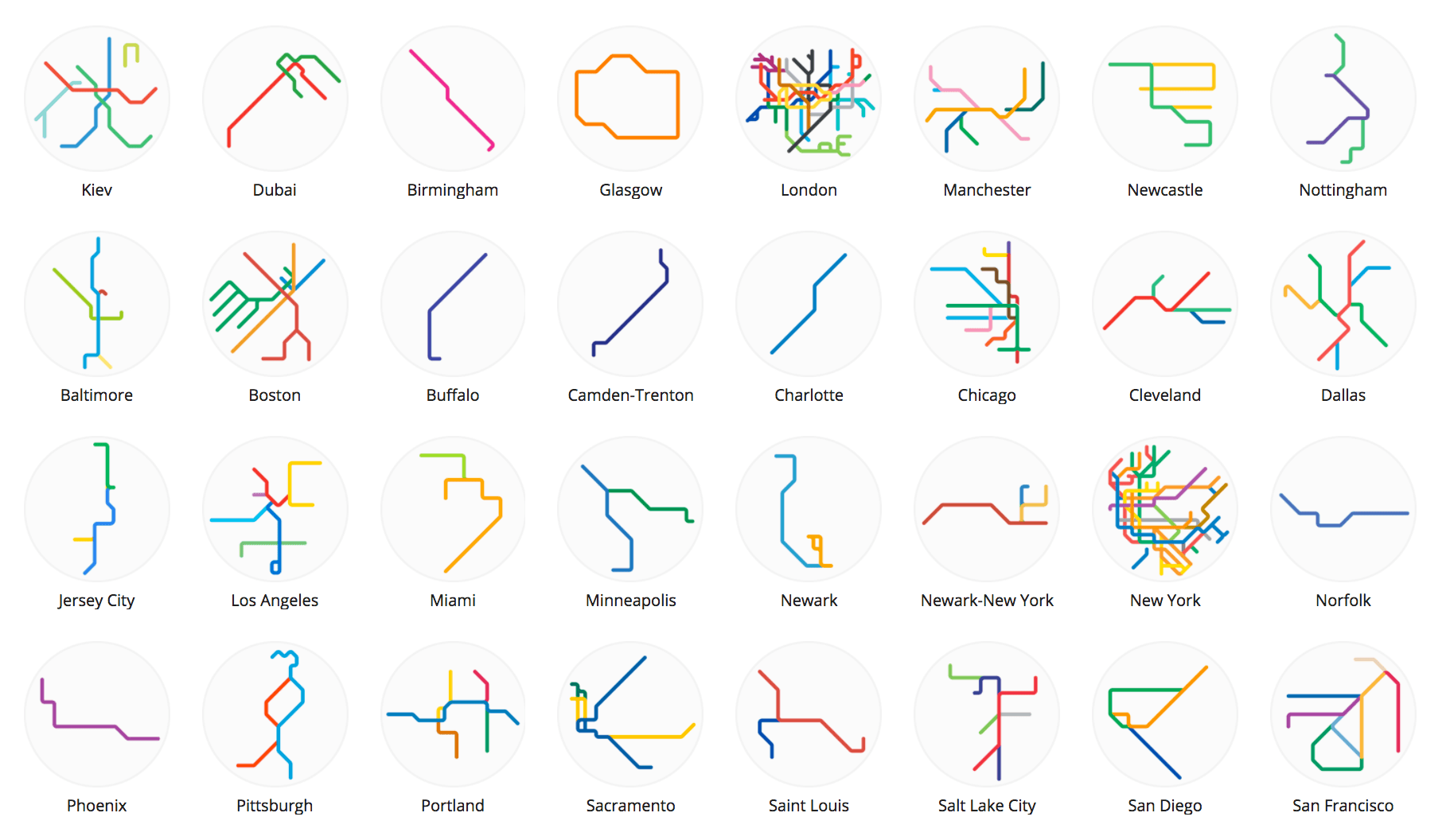 Peter Dovak Mini Metro Maps