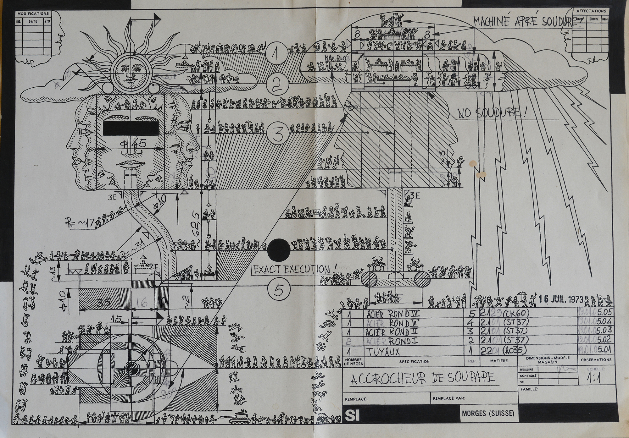 Artist Turns Boring Old Blueprints Into Fascinating